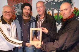 v.r.n.l. Uriz von Oertzen, Nils Koppruch, Alexander Maurus, Ole Soul
